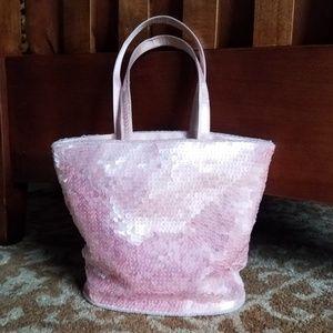 INC Pink Iridescent Sequin Purse w/Coin Purse